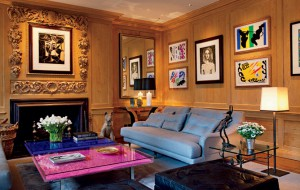 Sitting room of the singer Sting