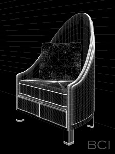 Wireframe model of Armchair.