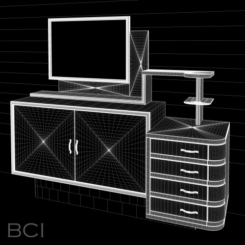 Wireframe model of Italian Buffet.