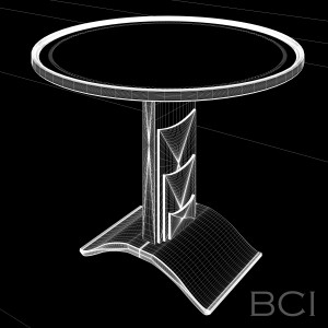 Wireframe model of Table with Rotating Top.