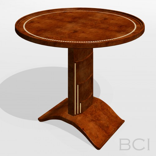 3D Model of Table with Rotating Top.