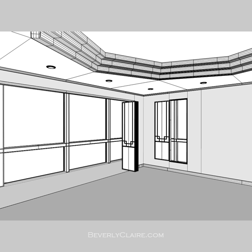 Wireframe view of the ceiling variation.
