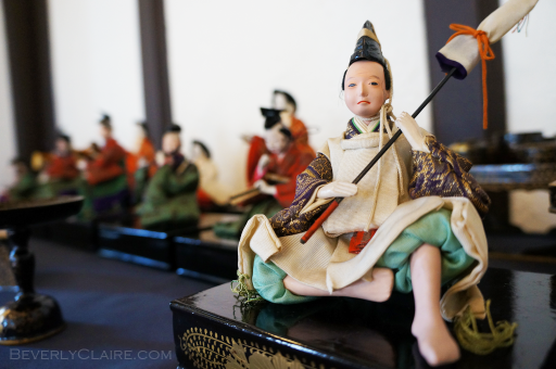 Traditional dolls in a Yokohama house museum