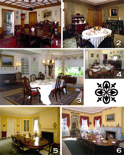 Dining rooms  in historic New England homes. All photos courtesy of historicnewengland.org