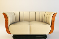 Art Deco Tulip Loveseat & Chair