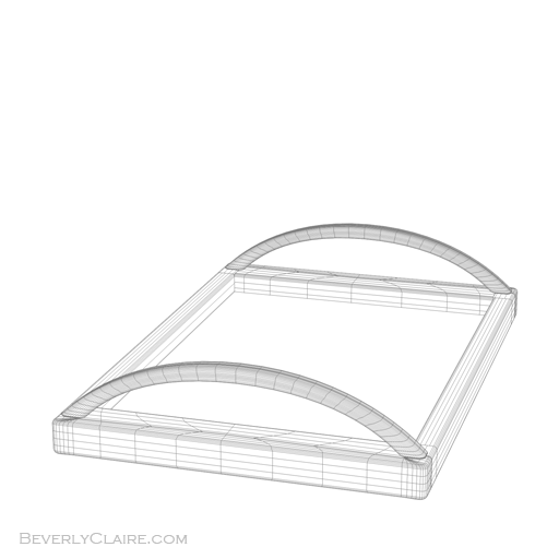Wireframe view of our Art Deco tray.