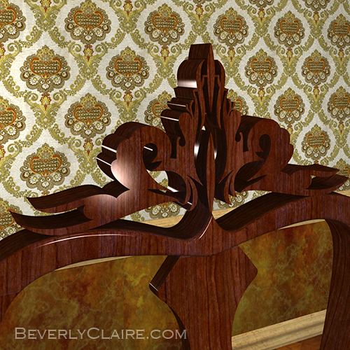 Detail of the dining chair.
