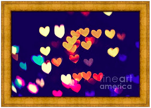 Colorful Heart Bokeh with Vintage Atmosphere