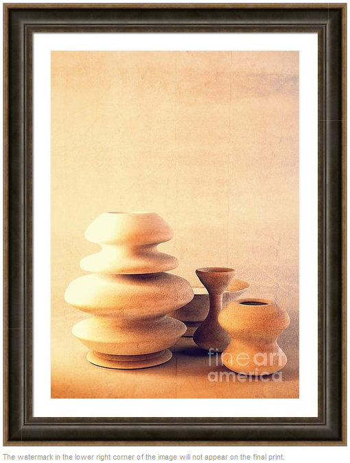 Ceramic Still Life - Soft Vintage by Beverly Claire Designs