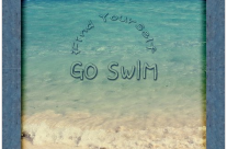 Find Yourself Go Swim Tropical Beach Motivational Quote