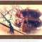 Lovely Pagoda and Plum Blossoms with Bamboo Fence