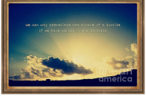 Tropical Sunrise Vintage Style Inspirational Quote