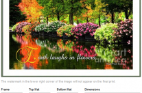 Beautiful Park with Colorful Flowers and Autumn Trees