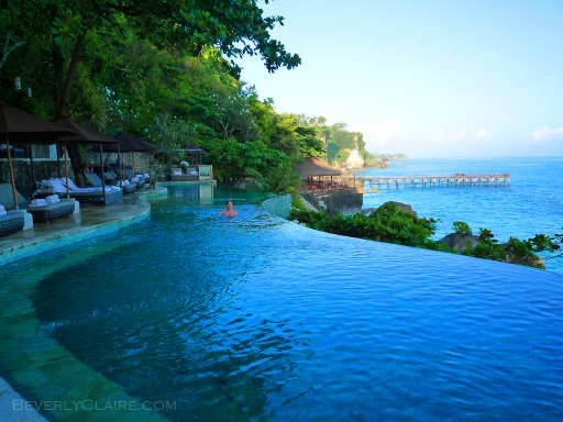 A dazzling, infinity-edged pool at Ayana