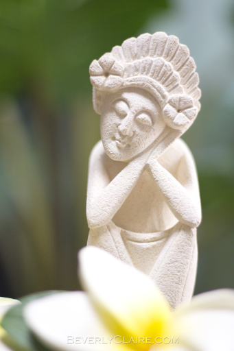 A sandstone sculpture from Bali
