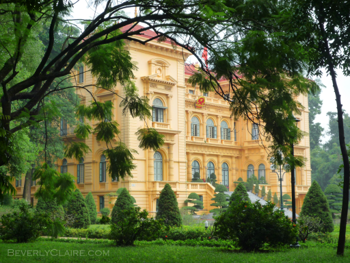 At the Governor's Palace in Hanoi