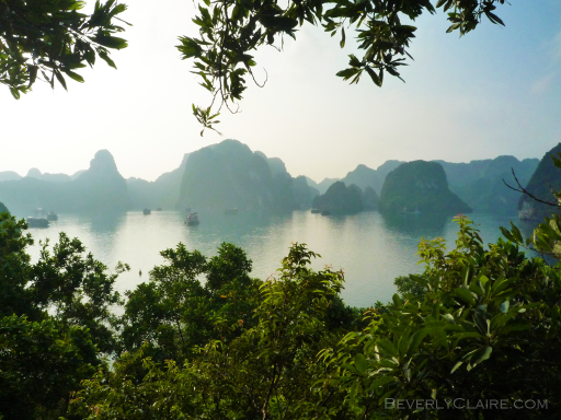 View of Halong Bay from atop one of the islands