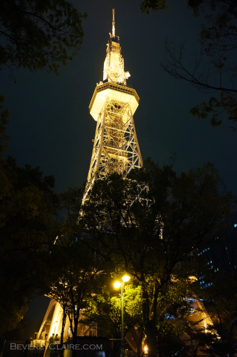 Nagoya TV Tower at night