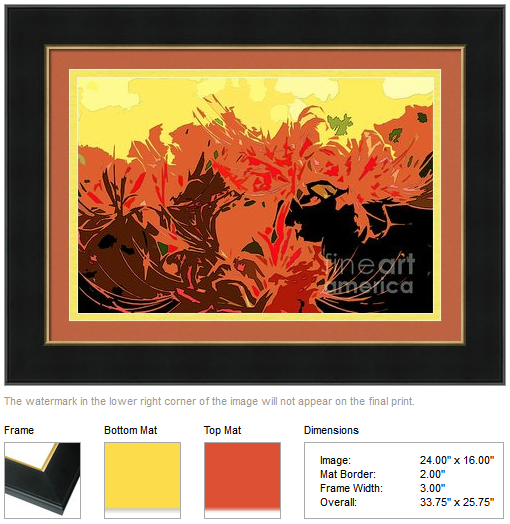 Resurrection Lilies in Autumn Hues: Framing idea by Beverly Claire Kaiya