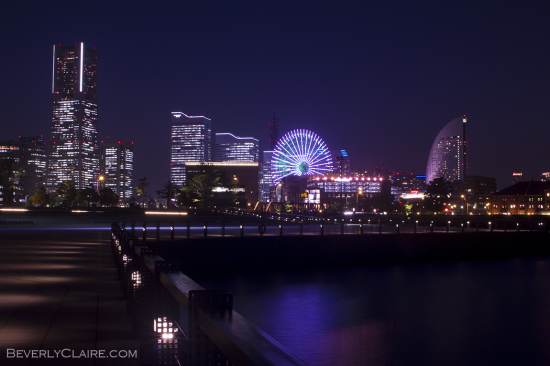 A view of Minatomirai at night