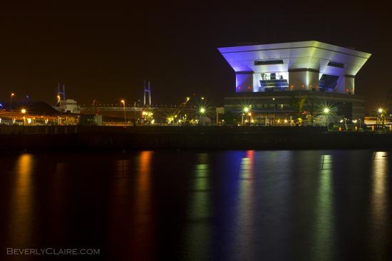 A view of Osanbashi at night