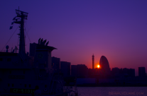 Sunset at the Osanbashi Pier