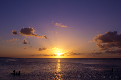 Sunset on the beautiful Tumon Bay