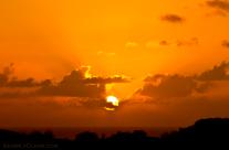 Sunset through the hotel window