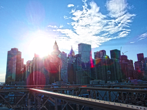 Another view of the skyline from the Brooklyn Bridge