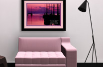Sunset in Pink and Purple with Yachts at Bay