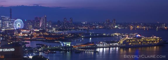 A view of Osanbashi and Minatomirai from the Yokohama Marine Tower
