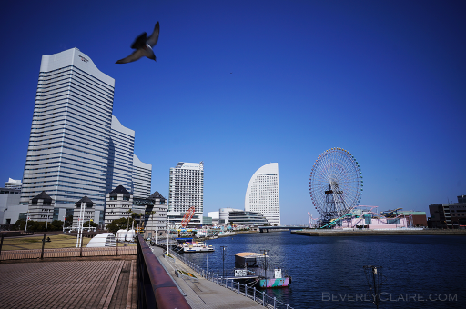 A view of Yokohama on a clear day